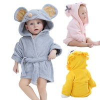Wholesale Infant Baby Modeling - Baby Bathrobe Fashion Designs Hooded Animal Modeling Cartoon Baby Towel Character Kids Bath Robe Infant Beach Towels YE0001