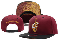 Wholesale Snapback Ness - 2017 New Hot Sale michell & ness CLEVELAND basketball team snapback hats sports caps for men women ball caps 12 style free shipping