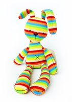 Wholesale Wholesale Plush Bunnies - 50CM Rainbow Rabbit With Tags Mamas & Papas Iridescent Baby Bunny For Baby Figures Plush Toys Mamas And Papas Rabbit For Kids XT