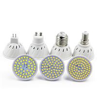 Wholesale Mr16 48 Smd Led - CUP LED Spotlight Bulb 220V 230V LED lamp E27 GU10 MR16 GU5.3 SMD2835 48 60 80 LEDs light For Downlgiht Stair Pathway lighting