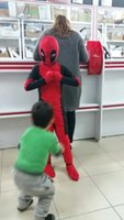 Wholesale Cool Girl Costumes - Accessories Cosplay Costumes CaGiPlay Cool Kids Costume Red full body spandex Boy Deadpool Cosplay Costumes girl halloween party costume