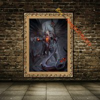 """Wholesale Presidents Pictures - """"Ars Goetia President Valac"""" Premium Art Print. Wall Art Painting The Picture HD Print On Canvas Pictures(Unframed)"""