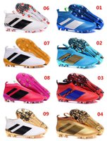 Wholesale Winter Shoes Without Laces - New Arrivals ACE 16+ Purecontrol FG AG Cleats High Top Cleats Without Shoelaces Size 6.5-12 Boy First Walkers shoes