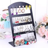 Wholesale 24 Pair Earring Holder - Plastic Display Rack Stand Holder Organizer 24 Pairs Earrings Jewelry Show Accessories @M23