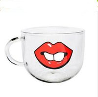 Wholesale Glass Zakka - Free shipping cat kawaii Borosilicate glass funny coffee mugs zakka cristal novelty mug lovely coffee cups