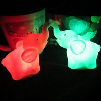 Wholesale Elephant Led - One Price New Colorful Elephant Small LED Night Light Colour Changes Color Mini Night Lights Fancy Gifts Lighting 1 25lp J R