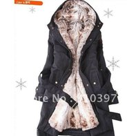 Wholesale Cheapest Long Coats Women - Cheapest women's fur coats  winter warm long coat