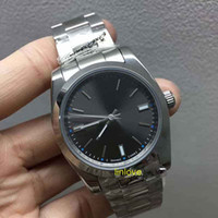 Wholesale Mechanical Binger - Gray Dial High Quality 39mm Date Steel 114300 Mechanical Automatic Mens Watch luxury brand women's fashion Watches