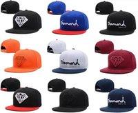 Wholesale Snapback Wine Red - 2017 New Fashion HipHop Snapback Sport Cap Wine Red Diamond Hat Baseball Hats Cheap Men Women LK Adjustable Wholesale 100% Original