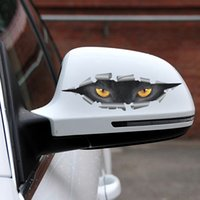 Wholesale Cat Head Style - Cool 3D Car Styling Funny Cat Eyes Peeking Sticker Waterproof Peeking Monster Auto Accessories Whole Body Cover for Car CEA_30J
