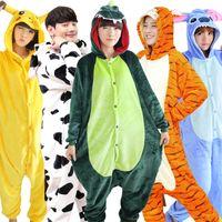 Wholesale Cute Women Halloween Costumes - Winter Cute Anime Women Pajamas Adult Cartoon Animal Onesie Kangaroo Pajamas Sleepwear Costume Flannel Hooded Pajamas