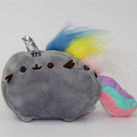 "Wholesale Wholesale Plush Horses - New Fun 4.7"" Pusheen Unicorn Cat Rainbow Horse Plush Doll Cartoon Kid's Stuffed Animal Toys"