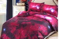 Wholesale Cheap Fabric Sheeting - Cheap wholesale euramerican style 220 * 230 cm high quality 3 D nebula star bedding four sheets bedding bag