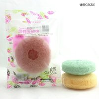 Wholesale Colors Vegetables - mixed colors Konjac Sponge Puff Herbal Facial Sponges Natural Konjac Vegetable Fiber Making Cleansing Tools For Face And Body free shipping