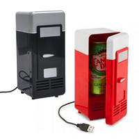 Wholesale Can Cooler Warmer - Wholesale- FFFAS NEW Design Popular Mini USB Fridge Cooler Beverage Drink Cans Cooler Warmer Refrigerator USB Gadget for Laptop for PC