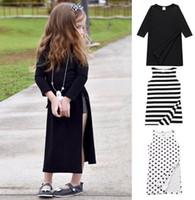 Wholesale Dot Dress Black Baby - 2017 Summer New Baby Girl Dress sweet High vented cotton sleeveless Dress Children Clothing 1-4Y LYQ1285