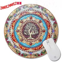 Wholesale Persian Style - 200X200X2MM Print Round Rubber Non-slip Custom Persian Carpet Style Game Mouse Pad Pad Decorate Your Computer Desk