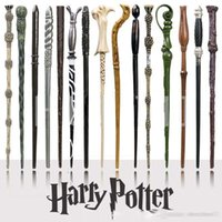 Wholesale Novelty Wooden Boxes - Harry Potter Magic Wand with Ollivanders Wand Box 18 design Hermione Voldemort Magic Wands with Metal Core Halloween Cosplay Novelty Toy