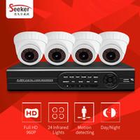 Wholesale Cms H 264 Cctv - H.264 View 4CH CCTV Security System 960P 1080P HDMI AHD DVR Kits 4PCS 1.3 MP 2000TVL IR Cut Smart Phone View Free DDNS CMS