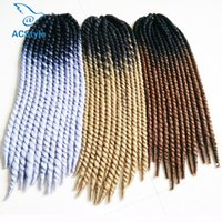 Wholesale Top Kanekalon Hair - Top-selling Free Shipping 120g per Piece 22inch Synthetic Braiding Hair Ombre Kanekalon Braiding Hair Havana Mambo Twist Crochet