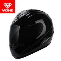 o capacete completo venda por atacado-2017 nova yane eterna capacete da motocicleta rosto cheio de bicicleta elétrica moto capacetes feitos de viseira abs e pc para mulheres dos homens modelo yh993