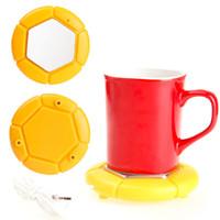 Wholesale Tea Cup Warmer Electric - portable usb mug cup warmer pad coffee tea milk hot drinks heating safty electric desktop warm heating pad A grade quality