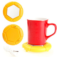 ingrosso tazza di caffè riscaldata usb-portatile tazza usb tazza scaldino pad caffè tè latte bevande calde riscaldamento safty desktop elettrico riscaldamento caldo pad Una qualità di grado
