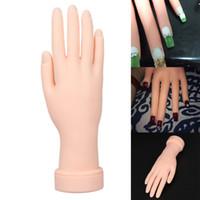 Wholesale Flexible Mannequins - 1Pcs Flexible Soft Plastic Flectional Mannequin Model Painting Practice Nail Art Fake Hand for Training Nail Art Design Can Bend