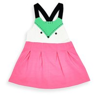 Wholesale Western Dresses For Baby Girls - Baby Girls Fox Summer Dress Candy Color Toddler Baby Cotton Dress Western Fashion Cute Party Dress for 1-3 years old