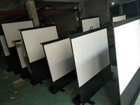 Wholesale Factory inch Floor Stand Movable Projection Screen for Outdoor Movie Portable Floor up Projector Screen