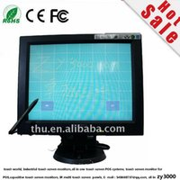 Wholesale Pos Dhl - new wholesale 4 pcs lot Free Shipping DHL 3-4 Working Days Door to Door 12 Inch 4:3 Touch screen Led Monitor For POS with VGA USB contorl