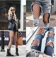 Wholesale Wholesale Tights For Ladies - 3 Size Socks for Women Fashion Ladies Fishnet Net Pattern Burlesque Hoise Pantyhose Black Tights CCA5648 50pcs
