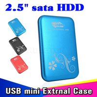 "Wholesale Hard Drive Storage Boxes - Wholesale- 2015 New Metal 2.5"" 2.5 inch USB 3.0 to HDD Case Hard Drive Disk SATA External USB3.0 Storage Enclosure aluminium Box"
