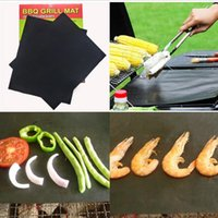Wholesale Sticky Surfaces - BBQ Grill Mat Not Sticky Baking Mats Black Roast Pads Rectangle Bake Pad Outdoor Cooking Tools Make Grilling Easy OOA1805