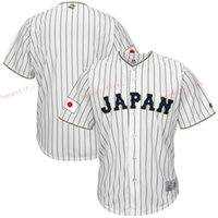 Wholesale Blank Fans - Japanese Baseball Jerseys 2017 World Japan Classic Jersey Men Blank White Stripe Breathable For Sport Fans Top Quality On Sale