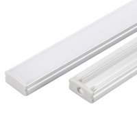 Wholesale flashlight cover resale online - led aluminium profile m per Set LED Aluminum extrusion profile for led strips with milky diffuse cover or transparent cover SN1707