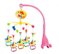 Wholesale best music mobile - Wholesale- Lowest Price Best Quality New Kid Toy Baby Rattles Carousel Shape Musical Rotating Baby Mobile Bed Bell With 40 Music