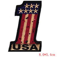 "Wholesale Usa Flag Vest - Glyph vintage ""usa"" #1 flag  pride, biker, vest,iron on patch"