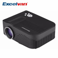 Wholesale mini portable projector phone - Wholesale-Excelvan X9 Portable Mini Home LCD Projector 800*480 1000Lumens With HDMI USB AV VGA SD Supprot DVD Phone With Built-in Speakers