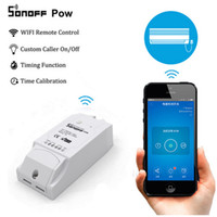 Originaln Sonoff Pow Controlador Smart Wifi Switch Con Medida de Consumo de Energía en Tiempo Real 16A / 3500w Dispositivo Smart Home Vía Android IOS