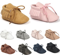 Wholesale Boots For Infants - 19 colors for choose!Retail NEW Styles Matte Texture Baby Soft boots Tassel Fringe Moccasin Shoes Mocs baby shoes Infant shoes