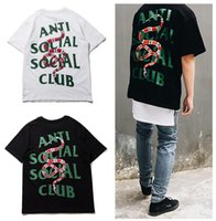 Wholesale Summer Hot T shirts Vlone FRIENDS Anti Social Social Club Printed loose Men women tee Kanye High street Hip hop cotton loose streetwear
