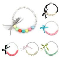 Wholesale Bubble Beads - 2017 High Quality bubble Beads Girl Kids Party Princess Jewelry Necklace Children Gift Necklace Free shipping C124
