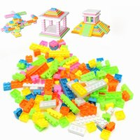 144pcs Plástico Building Blocks Toy Bricks DIY Assembléia Early Educational Learning Brinquedos Clássicos Kids Gif
