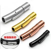 takı manyetik konektörü toptan satış-Beichong Moda Takı DIY El Sanatları Paslanmaz Çelik Arc Deri Bilezik DIY Için Manyetik Kilit Kapat Bağlayıcı