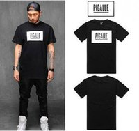 Men organic cotton brand tshirts - Hip Hop Brand Pigalle Rock Skateboard T Shirt Mens Short Sleeve Casual T Shirts Baseball Tshirts Camisa Masculina Men Clothes
