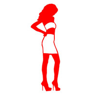 Wholesale Beautiful Body Model - Wholesale 10pcs lot 4 From The Grant Fashion Model Beautiful Girl Silhouette Car Sticker for Window Door Sexy Body Hot Woman Vinyl Decal