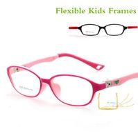 Wholesale Spectacles Frames Wholesale Kids - Wholesale- 180 Spring TR90 Optical Eyeglasses Kids Frames Rubber Flexible Glasses Girls Boys Myopia Lense TR Children Spectacle Frame 8808