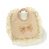 Wholesale Organic Baby Bibs - Wholesale- Baby Bibs Cute Organic Cotton Bib Lace Infant Bibs Boys Girls Bandana Toddler Saliva Towels Baby Accessories Bow Baby Clothing