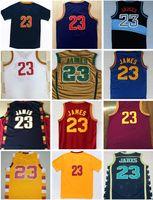 Wholesale Free Multi Games - Mens basketball jerseys Cleveland LeBron 23 JAMES high school jerseys HWC classic retro SW authentic game uniform free drop shipping